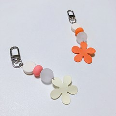 summer flower keyring