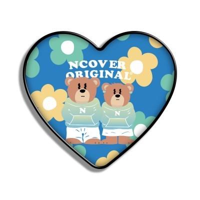 Flower couple hoodie bruin-blue(heart tok)_(1526650)