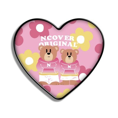 Flower couple hoodie bruin-pink(heart tok)_(1526649)