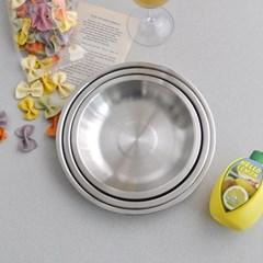 홈파티 스텐 원형 접시(소) 2p