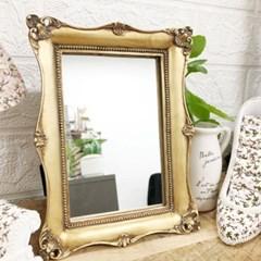 로렌 엔틱 골드 사각 테이블 거울