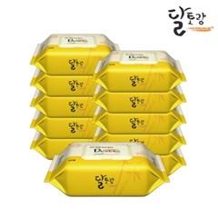 [달토랑]미세플라스틱 없는 대나무물티슈 밤부패밀리 80매10팩캡형