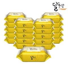 [달토랑]미세플라스틱 없는 대나무물티슈 밤부패밀리 80매20팩캡형