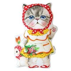 고양이삼촌 쿠션 - 빨간두건 루미