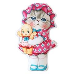 고양이삼촌 쿠션 - 루미와 옛날인형