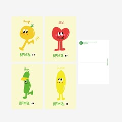 [BFMA] 벌룬프렌즈 네임시리즈 캐릭터 엽서 4종