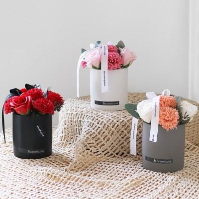 카네이션 & 장미 무광화기 센터피스