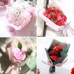 (1+1 행사)카네이션 향기로운 비누꽃 꽃다발 7500원 균일가