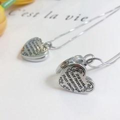 앤틱 하트 사진 보관함 목걸이_heart lock necklace