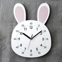 무소음 어린이 교육용 벽시계 토끼
