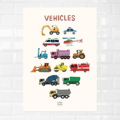 VEHICLES 자동차 방수 포스터 (A2)