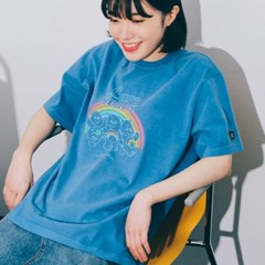 [7/13예약] [아이린착용] RONRON TRIPLE BEARS T-SHIRT PIGMENT BLUE