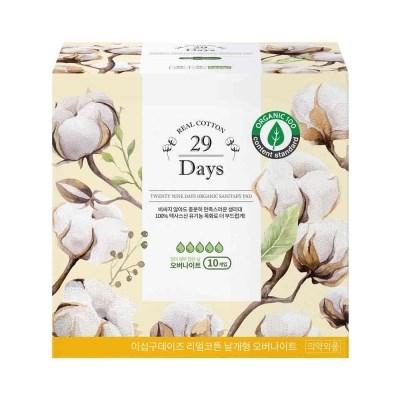 29Days 리얼코튼 유기농 생리대 오버나이트 1팩(10P)