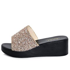 kami et muse Glitter middle wedge slippers_KM20s084