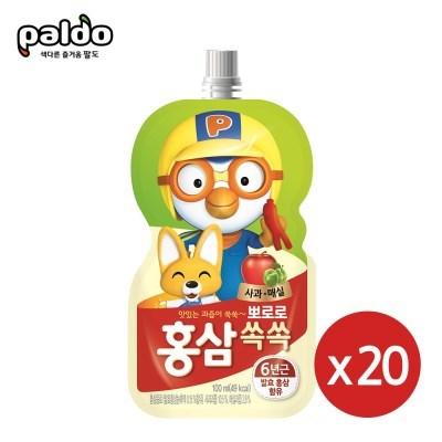 뽀로로 홍삼쏙쏙 사과매실100mlX20개_(2303964)