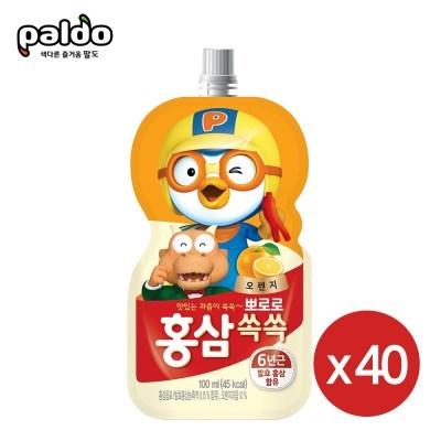 뽀로로 홍삼쏙쏙 오렌지100mlX40개_(2303959)