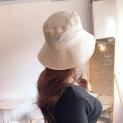 앤느 린넨 벙거지 모자 코튼 여자 버킷햇 2color