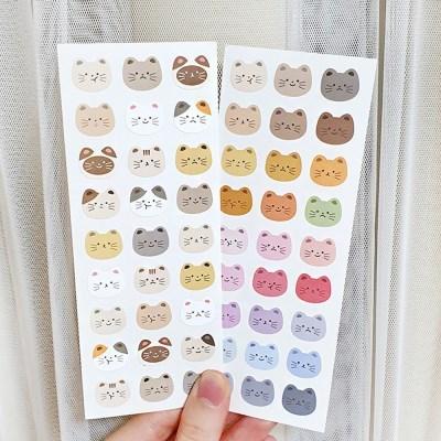 [메리로제] 고양이 페이스 씰 스티커