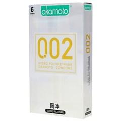 오카모토 콘돔 002 하이드로폴리우레탄 6개입_(1017336)