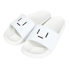 [7월 27일 예약발송]23.65 EMOTICON SLIPPER WHITE
