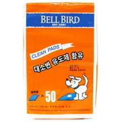 Bell Bird Clean Pads 50매-대소변 유도제 함유 (pdc)