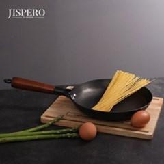 지스페로(jispero) 너도밤나무 손잡이 무쇠주물 후라이팬 (24cm)