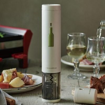 레꼴뜨 이지 원터치 전동 와인 오프너 호일커터 와인따개 와인용품