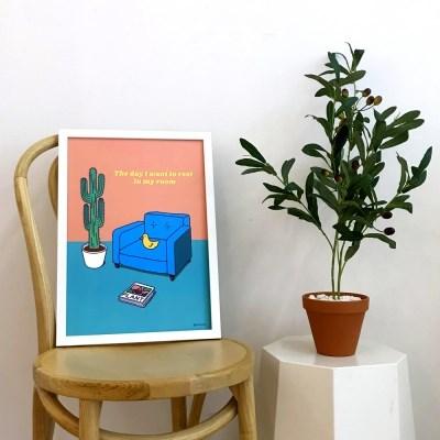 콤마비 인테리어 데코 감성 일러스트 그림 A3 포스터 23종