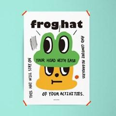 개구리 모자 M 유니크 인테리어 디자인 포스터