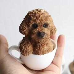 미니 컵 강아지 피규어 소품