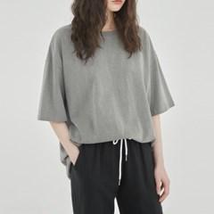 줄리아페페 (WOMAN) 피그먼트 티셔츠 그레이_(850915)