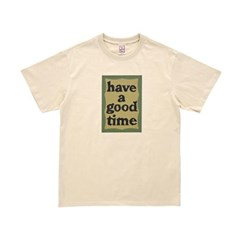 해브어굿타임 밀리터리 프레임 티셔츠 FLGDAS1C41_(1767236)