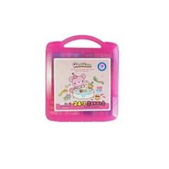 5500 24색크레파스(CR)-핑크