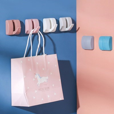 옷걸이 가방 수건 벽걸이후크 다용도걸이 스퀘어 멀티걸이 6개 1set