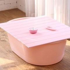 쉼표 하나 핑크 이동식욕조 덮개 세트 + 배수구_(1926742)