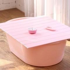 쉼표 하나 핑크 이동식욕조 풀세트 + 배수구_(1926741)