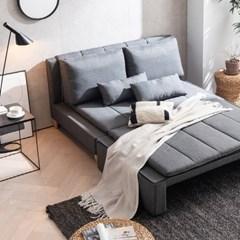 [내맘속엔] 아이디얼 3인용 패브릭 접이식 평상형 소파베드 침대