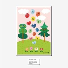 [BFMA] 벌룬프렌즈 에피소드 포스터(A3, A4) - 나무와 풍선친구들