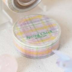 Spring Check Masking Tape