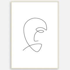 거실 패브릭 포스터 인테리어 그림 액자 드로잉 얼굴3
