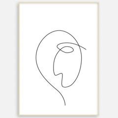 거실 패브릭 포스터 인테리어 그림 액자 드로잉 얼굴2