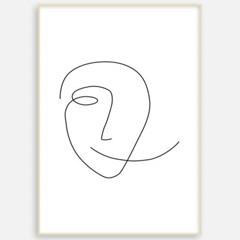 거실 패브릭 포스터 인테리어 그림 액자 드로잉 얼굴1