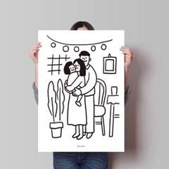 가족 사진 M 유니크 인테리어 디자인 포스터