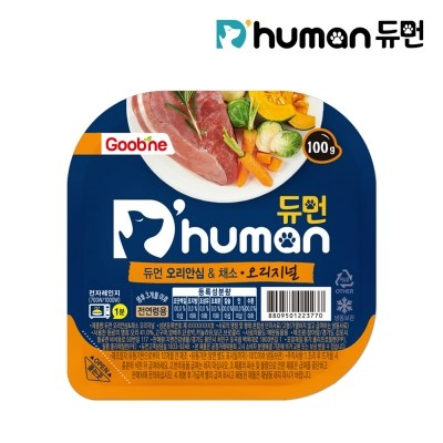 [굽네x듀먼] 맛있는 강아지자연식 오리안심&채소 오리지널 100g