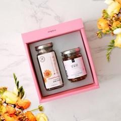 우리꽃연구소 꽃잼+꽃차 선물세트 (꽃잼,꽃차 각 택1)