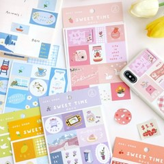 [cardlover] Sweet time STICKER 6종