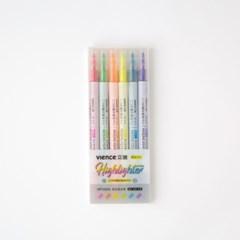 [VIENCE문구] 형광펜 셋트 6 colors