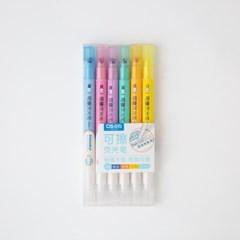 [D&S 문구] 지워지는 형광펜 셋트 6 colors 2종