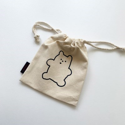 navy gummy 복조리 pouch