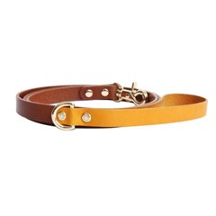 CLASSIC LEATHER LEASH HONEY YELLOW